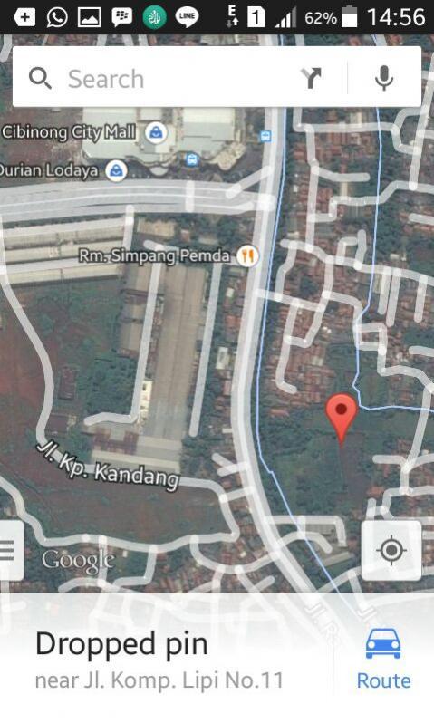 Dijual tanah 1,4 ha Jl Raya Bogor Cibinong Bogor