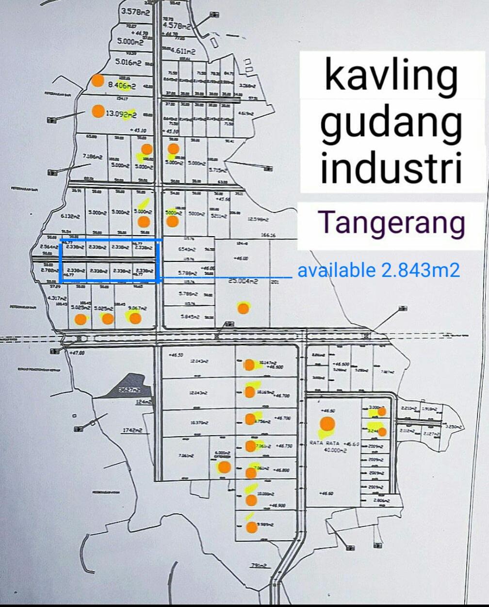 KAVLING GUDANG/PABRIK LEGOK SHGB MULAI 2000 AN M2 – 10.000 M2